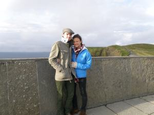 2012: On a brisk, chilly day just in front of the Cliffs of Moher as the sun came out.