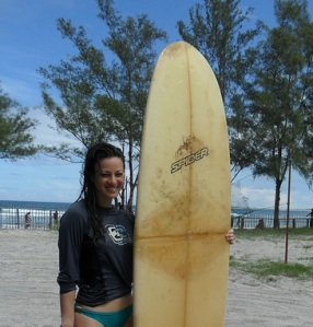 Using my first board on any continent anywhere.  Wheeeeeeeeeeeeeeee