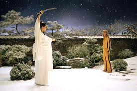 The Bride makes her final stand against one-time close friend, O'ren Ishii in Wintery Japan.